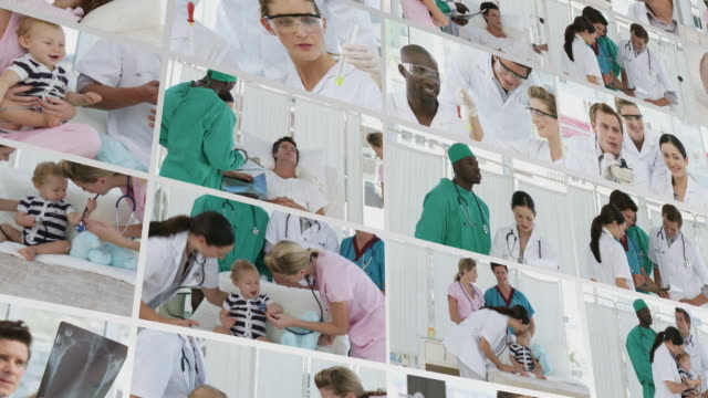 CU CGI Collage of medical footage with patients / Cape Town, South Africa