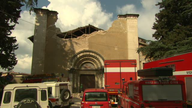 Collapse of church in Aquila