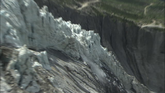 collapse of glacier serac  - collapsing stock videos and b-roll footage