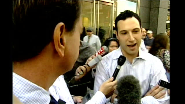 stockvideo's en b-roll-footage met collapse of lehman brothers bank hits global financial markets vox pops - 2008