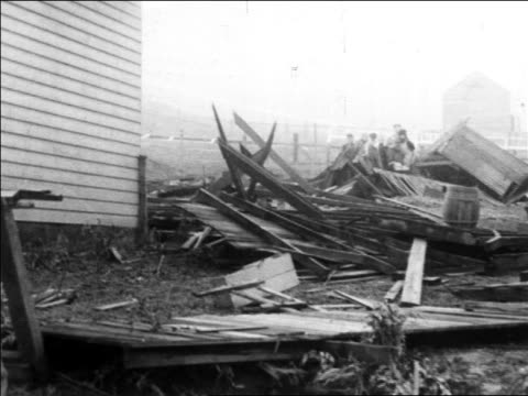 collapsed building after storm / california / newsreel - 1914 stock videos & royalty-free footage