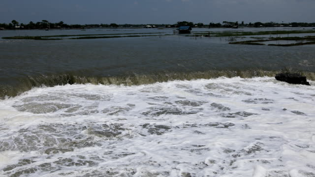 collapsed embankment seen in a coastal area in bangladesh on september 02, 2020. - embankment stock videos & royalty-free footage