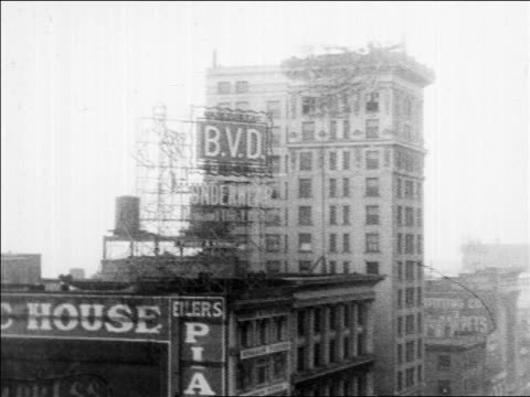 collapsed sign on top of building after storm / building with sign in foreground / san francisco - 1914 stock videos & royalty-free footage