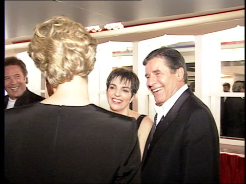 Collapses backstage at charity show in London LIB ENGLAND London Royal Albert Hall Jerry Lewis Liza Minelli meeting Diana Princess of Wales