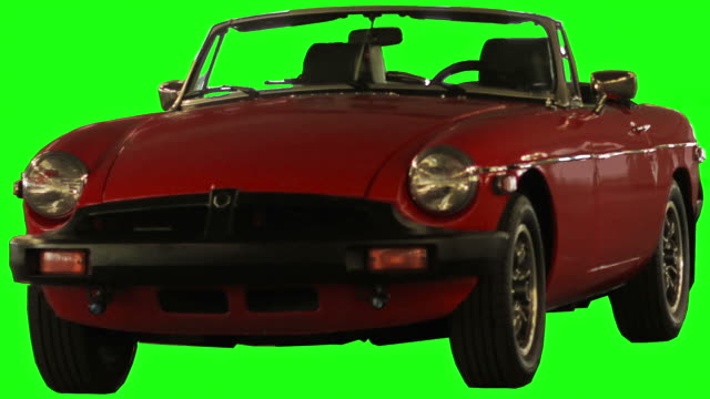 collapsing car on chroma green - red convertible stock videos & royalty-free footage