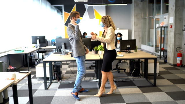 colleagues have fun on break - corporate business stock videos & royalty-free footage