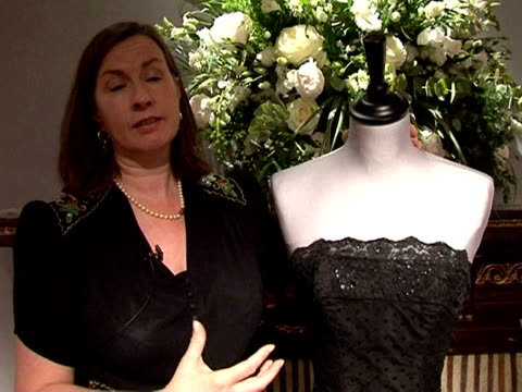 collection of dresses and other wardrobe treasures worn by film star and style icon audrey hepburn is on show in paris this week ahead of a charity... - audrey hepburn stock videos & royalty-free footage