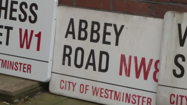 collection of london memorabilia is going under the hammer in the form of around 270 signs authenticated by the city of westminster council. among... - street name sign stock videos & royalty-free footage