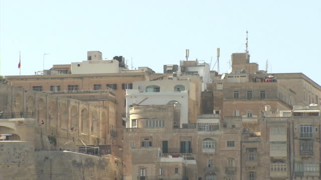collective housing in valletta, malta - valletta stock videos & royalty-free footage