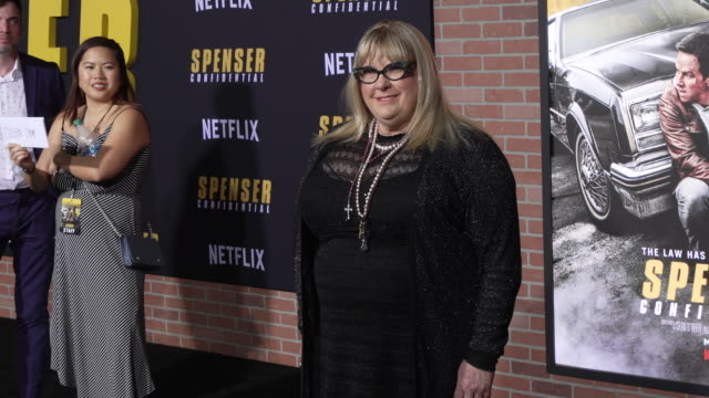"""colleen camp at the los angeles world premiere screening of """"spenser confidential"""" at regency village theatre on february 27, 2020 in westwood,... - 洛杉磯西木區 個影片檔及 b 捲影像"""