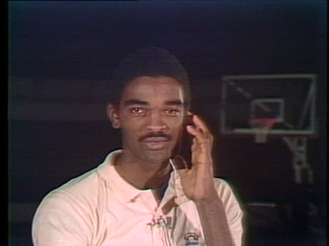 stockvideo's en b-roll-footage met college basketball player ralph sampson speaks about his view of winning. - sport