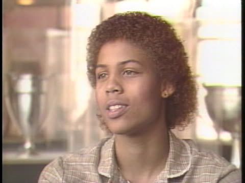college basketball standout cheryl miller says she has to take the chance to play basketball now because one day the opportunity may not be there - sport stock-videos und b-roll-filmmaterial