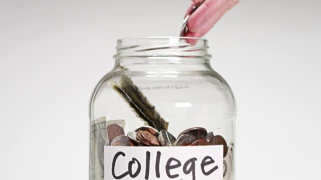 college fund - jar stock videos & royalty-free footage