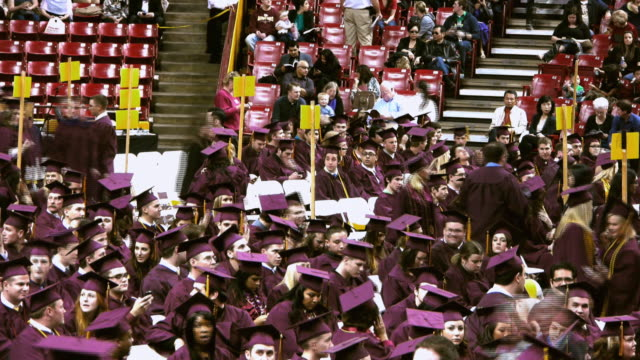 ws t/l college graduates taking at commencement ceremony / phoenix, arizon, usa - cap stock videos & royalty-free footage