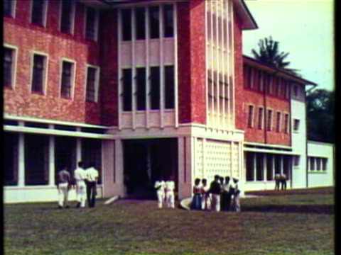 1953 WS MS College students converse with each other at University / Singapore / AUDIO