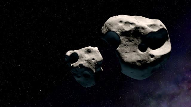 colliding asteroids - impatto video stock e b–roll