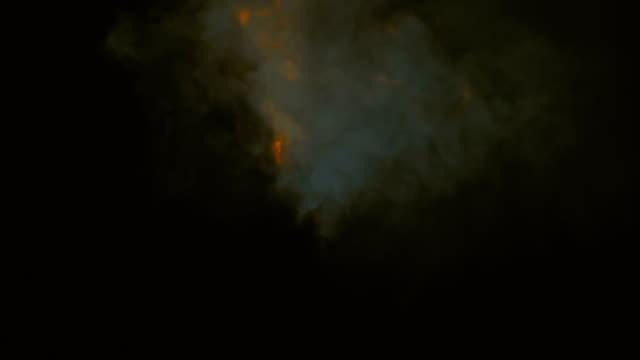 collision of orange flame streams abstract space background with alpha matte channel. 3d rendering. hd resolution - inferno stock videos & royalty-free footage