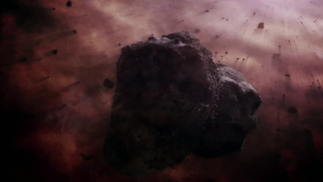gfx collision of rocks in space - solar system stock videos & royalty-free footage