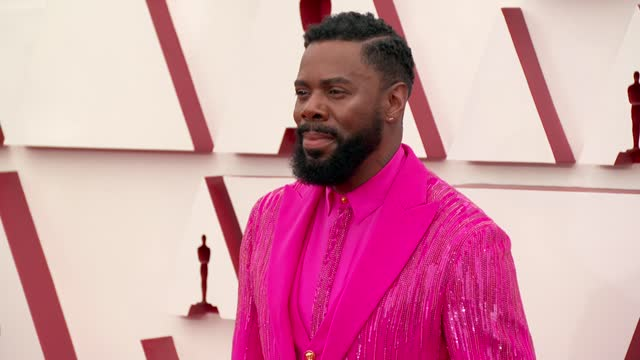 colman domingo at the93rd annual academy awards - arrivals onapril25, 2021. - academy awards stock videos & royalty-free footage