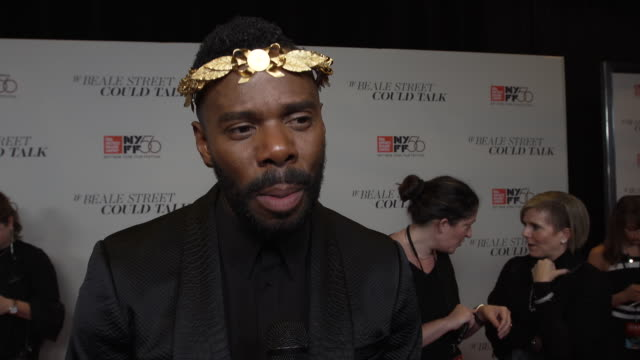 vídeos de stock, filmes e b-roll de interview colman domingo on how he felt coming to the premiere of the movie the authenticity of the film and working with barry jenkins at the 56th... - if beale street could talk