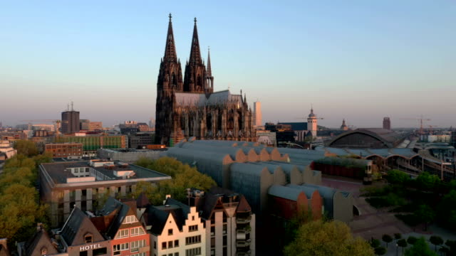 cologne at sunrise - cathedral stock videos & royalty-free footage