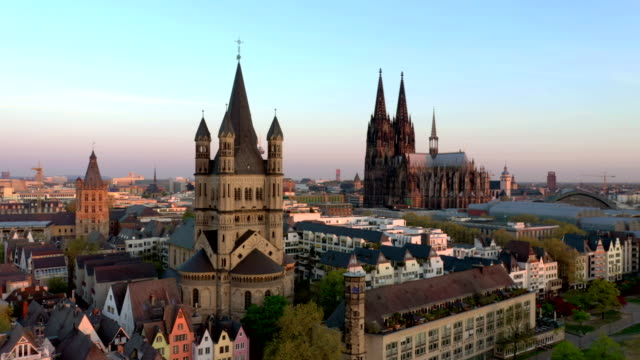 cologne at sunrise - church stock videos & royalty-free footage