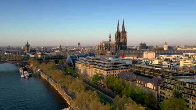 cologne at sunrise - germany stock videos & royalty-free footage