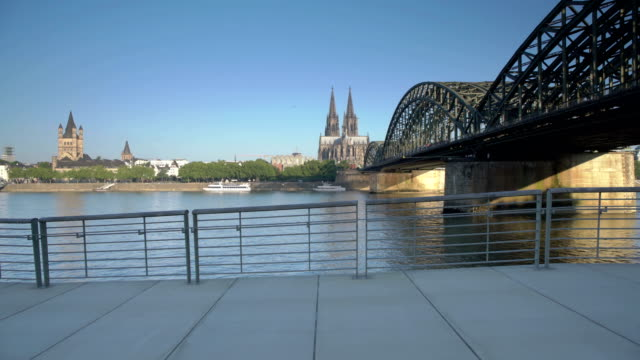 ts cologne at sunrise - tracking shot stock videos & royalty-free footage