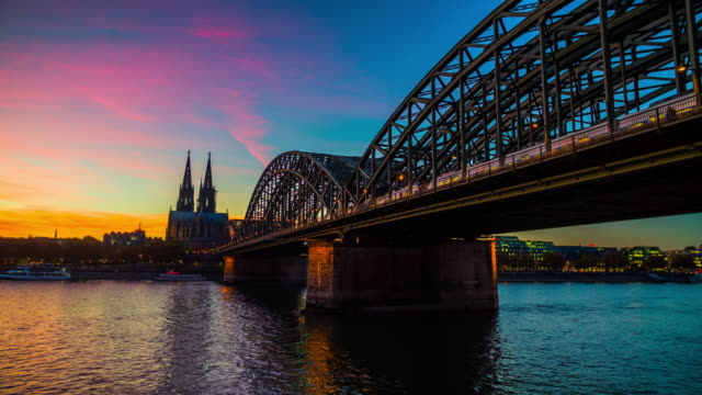 Cologne Cathedral and Rhine river - 4K Cityscapes, Landscapes & Establishers