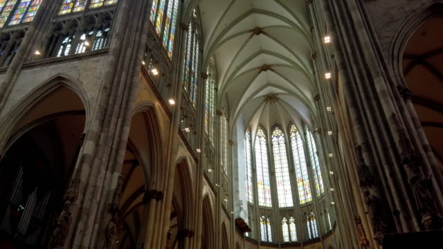 cologne cathedral viewed to the choir - north rhine westphalia stock videos & royalty-free footage