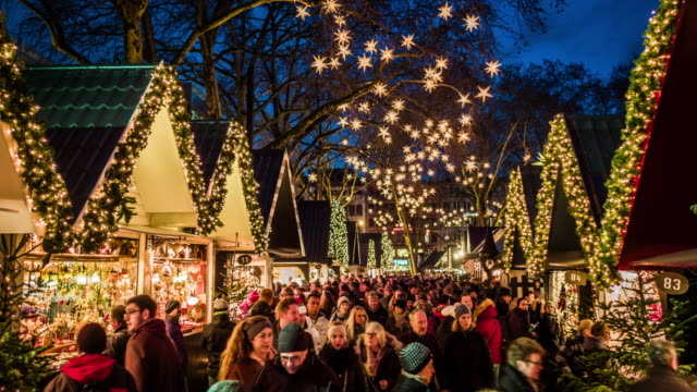 cologne christmas market, germany - christmas decoration stock videos & royalty-free footage