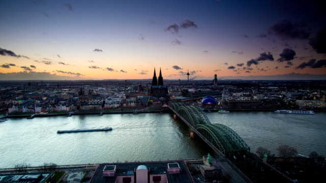 time lapse: cologne germany - river rhine stock videos & royalty-free footage