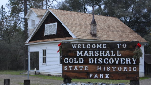 coloma california famous marshall gold discovery state park where gold was first discovered in 1885 - california gold rush stock videos and b-roll footage