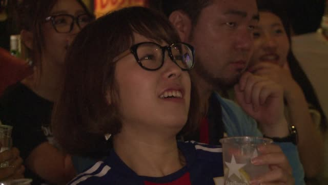 colombia beat japan 41 to end their world cup group c campaign with a perfect three wins and boot the asian champions out of the tournament - sportweltmeisterschaft stock-videos und b-roll-filmmaterial