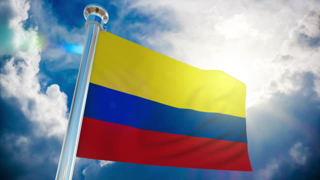 4k - colombia flag | loopable stock video - all european flags stock videos and b-roll footage