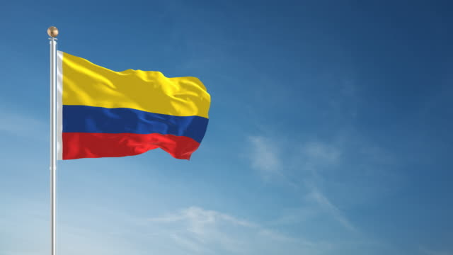4k colombia flag - loopable - colombian flag stock videos and b-roll footage