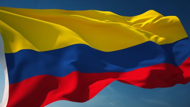 vidéos et rushes de drapeau colombie - bouclables - drapeau national