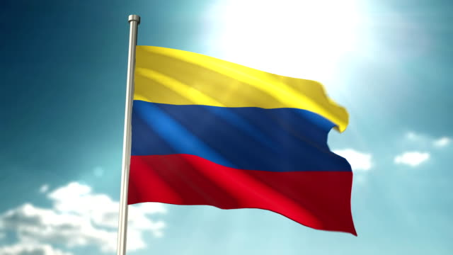 colombia flag loopable - colombian flag stock videos and b-roll footage