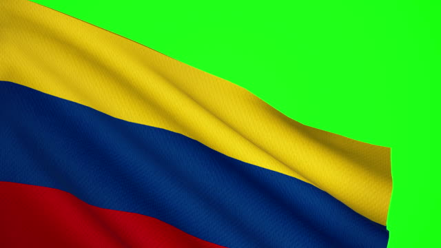 colombia flag luma matte - colombian flag stock videos and b-roll footage