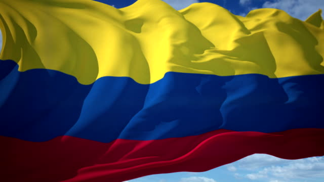 colombia flag - colombia stock videos & royalty-free footage