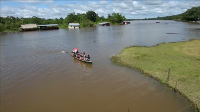 colombia has declared the lagos de tarapoto complex on the amazon river a protected area under the ramsar convention for wetlands - river amazon stock videos & royalty-free footage