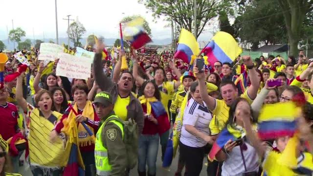 vídeos y material grabado en eventos de stock de colombia recibe a su seleccion con una apoteosica bienvenida - 2014
