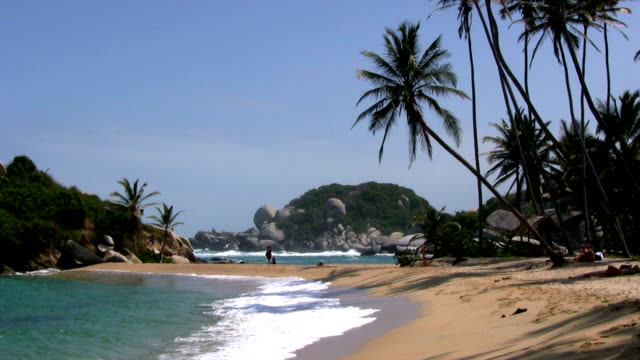 hd: colombian beach - tayrona national park stock videos and b-roll footage
