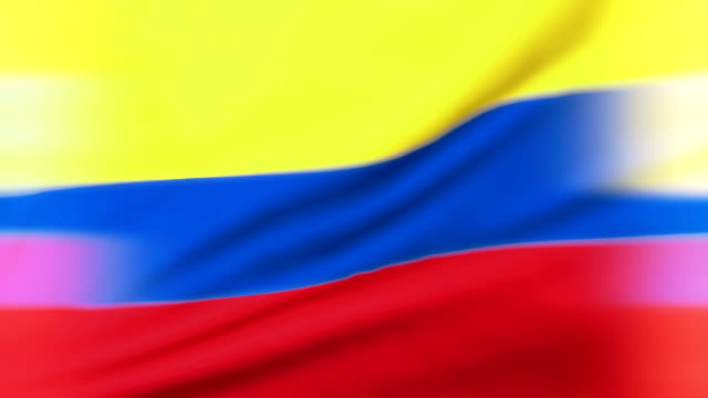 colombian flag loopable bandera de colombia - colombian flag stock videos and b-roll footage