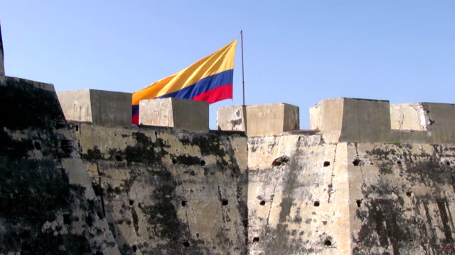 hd: colombian flag - colombian flag stock videos and b-roll footage