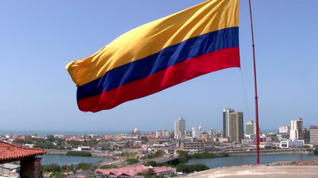 hd: colombian flag - colombia stock videos & royalty-free footage