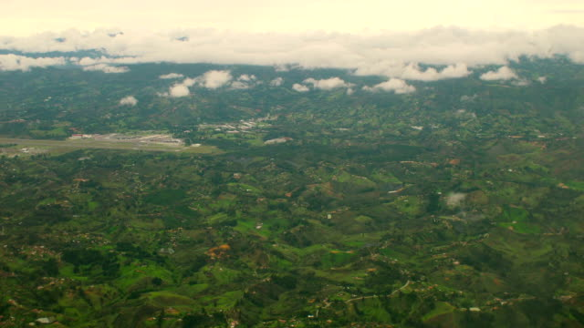 Colombian Landscape Aerial View