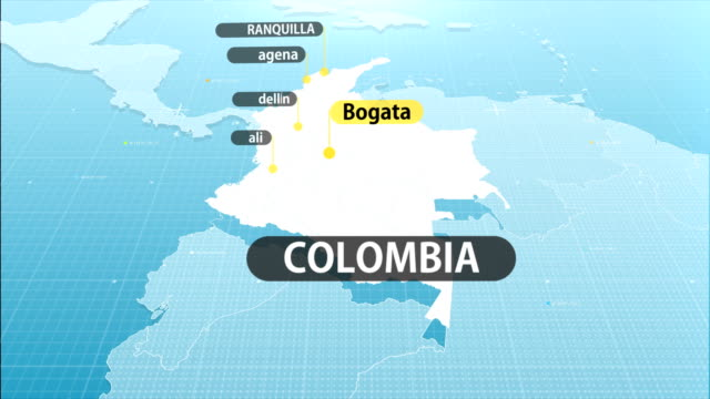 colombian map - colombian ethnicity stock videos & royalty-free footage