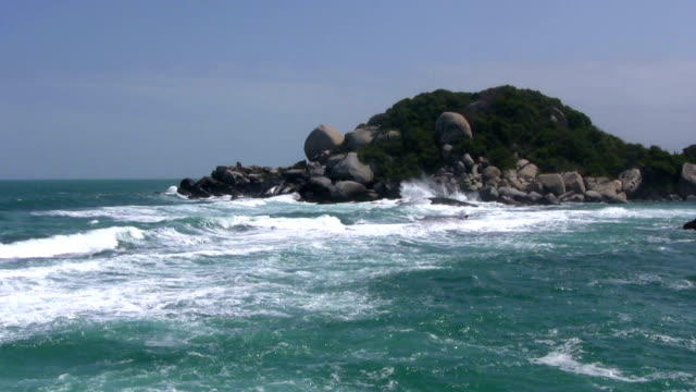 hd: colombian ocean - tayrona national park stock videos and b-roll footage