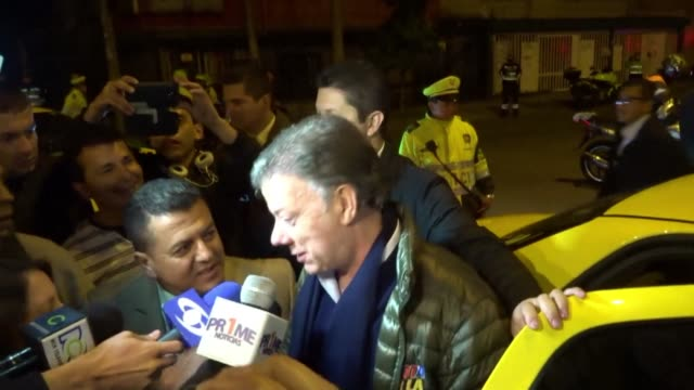 colombian president and presidential candidate juan manuel santos holds a campaign rally in bogota - juan manuel santos stock videos & royalty-free footage